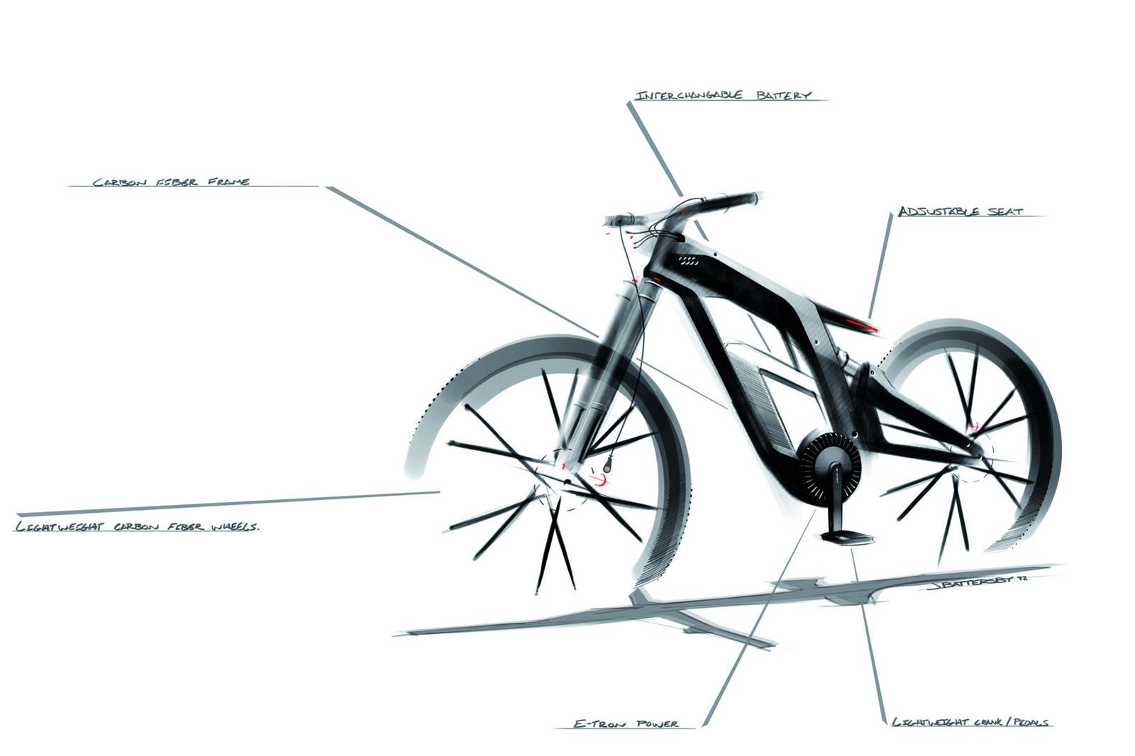 audi e bike concept. Black Bedroom Furniture Sets. Home Design Ideas