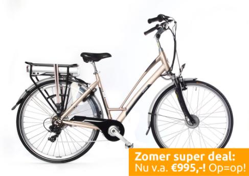 nieuwe uitstraling groothandel best leuk Amslod e-bikes, waar is de prijs? - Elektrabikes.nl